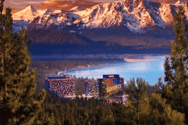 View of South Lake Tahoe Hotel Casinos